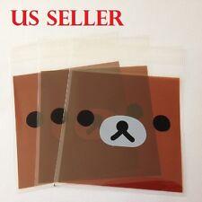 25 pc 10x10cm Cartoon Bear Self Seal Plastic Gift Bag Jewelry Packing  B4