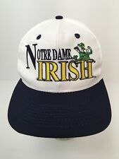 Notre Dame Hat Cap Fighting Irish Leprechaun Snapback NWOT Excellent