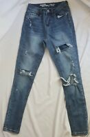 Hippie Laundry Women's Size 25 Mid Rise Skinny Jeans Distressed Destroyed