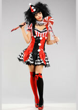 Womens Cute Harlequin Clown Costume