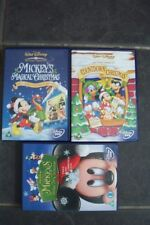 3 DISNEY CHRISTMAS DVDS MICKEY AND FRIENDS