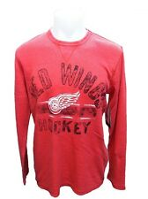 Detroit Red Wings MENS Thermal Long Sleeve Shirt Free Safety Red G-III