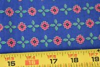 By 1/2 Yd, Vintage, Metallic-Gold Red & Green on Blue Cotton,Northcott Silk,P767
