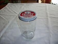 Antique Glass Skippy Peanut Butter Jar/Glass