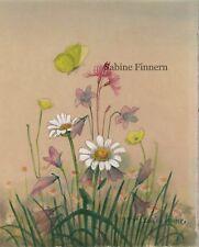 Karl Schicktanz-Aquarell-Wiesenblumen-watercolor-Aquarell(Signatur beachten)