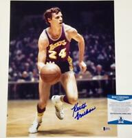 KEITH ERICKSON Autograph 1972 LAKERS Signed 11x14 Photo BAS Beckett Witness COA