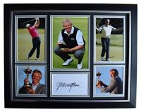 Colin Montgomerie Signed Autograph 16x12 framed photo display Golf Open & COA