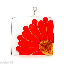Fused Gerbera Daisy Switchables Stained Glass  SF518
