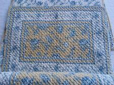 4 Quilted Waverly Placemats Blue Yellow Floral Reversible Cottage Shabby Chic