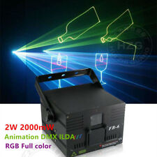 2W RGB Full color Animation Laser Light DMX ILDA DJ Party PRO Club Stage Light