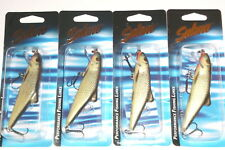 Salmo SK10F Skinner Crankbaits/Jerkbaits (Lot of 4-Real Grey Shiner)