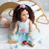 NPK 55cm Xmas Girl Full Body Silicone Vinyl Reborn Baby Doll Newborn Toddler Toy