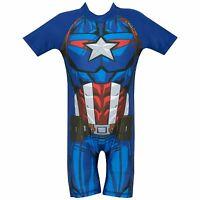 Captain America Swimsuit | Marvel Avengers Captain America Swimming Costume