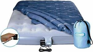 Aerobed Airbed Inflatable Blow Up Flocked Mattress Single with pump 188x99x23cm