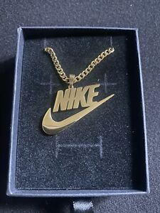 Nike Swoosh Pendant/Chain/Necklace (Gold) - Stainless Steel