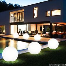 25 cm Solar 4x LED Desgin Gartenleuchte Lampe Kugel Leuchte Außen Erdspieß Hof