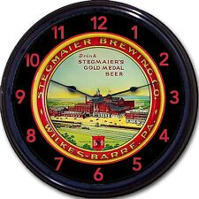 """Stegmaier Brewing Co Wilkes-Barre PA Beer Tray Wall Clock Ale Lager Man Cave 10"""""""