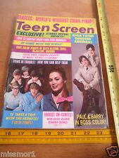 The Beatles 1966 Teen Screen magazine Herman's Hermits Ryan Twins VINTAGE