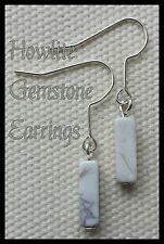 White Howlite Gemstone & Silver Plated Earrings