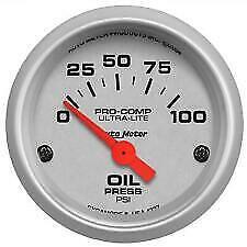 """Autometer 4327 Ultra-Lite 2 1/6"""" Electric Oil Pressure Gauge"""