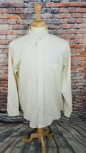 NWOT Brooks Brothers 1818 Yellow NON IRON Button Up TRAD FIT Dress Shirt 16 36