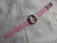 Pink Minnie Mickey Mouse Watch In Working Order Stainless Steel Back No. 9687