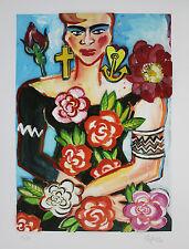 Elvira Bach - Magnolia - e.a. bezeichnet und handsigniert - GROSSES 3D!!!