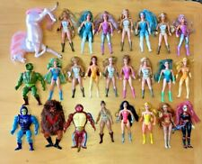 Vintage Action Figure Lot - He-Man Masters of the Universe, She-Ra, Golden Girl