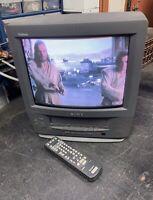 Sony Trinitron KV-13VM40 TV/VCR Combo w/Remote CRT Retro Gaming TV!