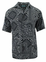 Cubavera Men's Short Sleeve Printed Woven Sport Shirt | Jet Black
