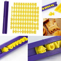 Alphabet Letter&Number Fondant Cookie Cutter Press Stamp Mold Cake Decorate