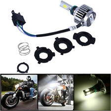 32W White 3-Sided LED Motorcycle H4 Headlight Bulb High /Low Lamp Fan Cooling 1x