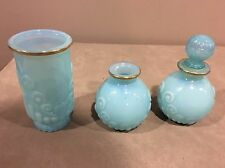 Vintage Avon Bristol Blue Collection Decanter Skin so soft Vase extra decanter