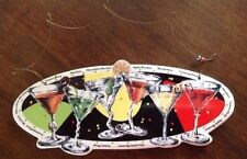 Martini Sign Cooktail Glass Bar Gin Club Drinking Wine Decor Plaque