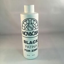 Black Patina for Zinc - 8oz : Novacan stained glass supplies