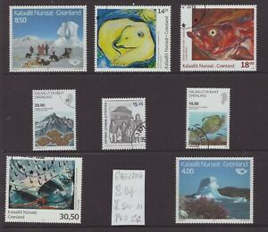 Greenland 8 different stamps
