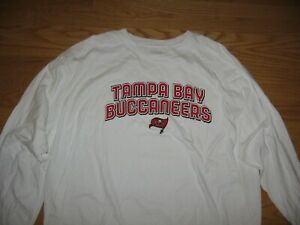TAMPA BAY BUCCANEERS NEW LONG SLEEVE WHITE JERSEY BY REEBOK NFL TEAM APPAREL