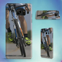 PERSON RIDING ROAD BIKE ON THE ROAD HARD CASE FOR SAMSUNG GALAXY S PHONES