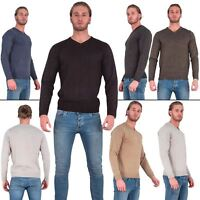Mens Jumper Knitted Sweater Brave Soul Pullover V-Neck Sweatshirt Casual Winter