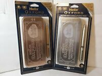Helix Oxford Metallics Maths Set With Pen Limited Edition Gold Or Silver
