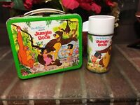 The Jungle Book Metal Lunchbox W/ Thermos Vintage 1966
