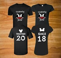Celebrating anniversary Minnie Mickey with custom shirts front and back design