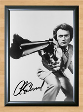 Clint Eastwood Dirty Harry Signed Autographed A4 Photo Poster Print Memorabilia
