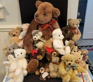 HUGE 19 pc Vintage Teddy Bear Lot w/ Boyd, Gund, Barrington, Ty etc.
