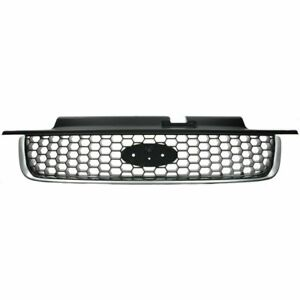 Front Grille XLT Model Chrome/Black fits 2001 2002 2003 2004 Ford Escape