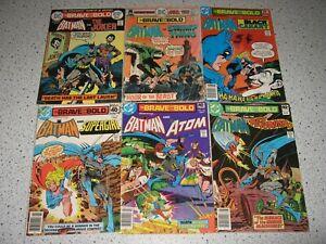 Brave & the Bold Batman DC Comic Book Collection Lot 1974 Joker Supergirl Rare