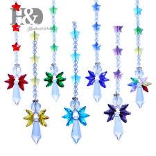 7pcs Handmade Rainbow Angel Suncatcher Crystal  Fengshui  Prisms Window Pendant