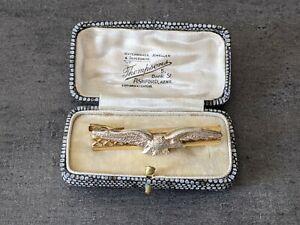 Vintage RAF Tie Clip Made in West Germany In Vintage Jewellrey Case