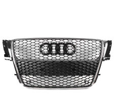 BLACK/CHROME TRIM RS5 STYLE FRONT MESH HEX GRILLE FOR 2008-2012 AUDI A5/S5 B8 8T