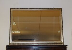 LOVELY VINTAGE GOLD & SILVER ANTIQUE FINISH BEVELLED MIRROR